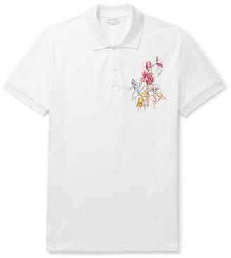 Alexander McQueen Embroidered Cotton-Pique Polo Shirt
