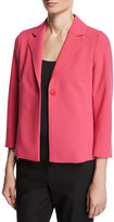 Escada Relaxed 3/4-Sleeve Jacket, Pink Myrtle
