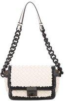 Bottega Veneta Snakeskin-Trimmed Intrecciato Bag