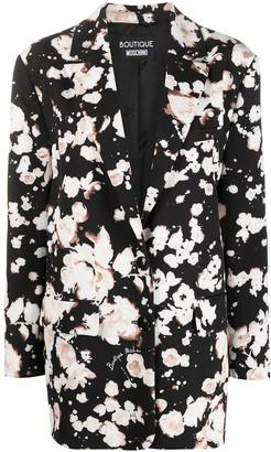Boutique Moschino Floral Print Oversized Blazer