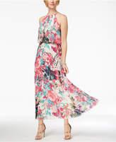 MSK Petite Pleated Blouson Halter Dress