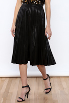 Glamorous Black Pleated Skirt