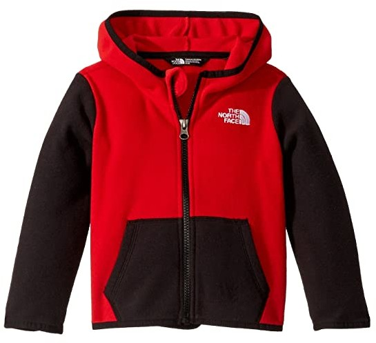 The North Face Kids Glacier Full Zip Hoodie (Toddler) (TNF Red) Boy's Sweatshirt