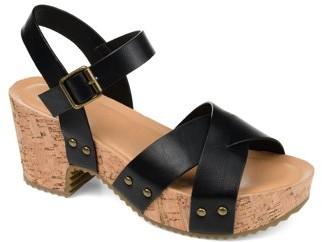 Brinley Co. Womens Platform Crossover Strap Sandals