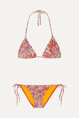 Etro Paisley-print Triangle Bikini - Red