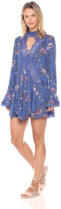 En Creme Women's Floral Print Lace Shift Dress