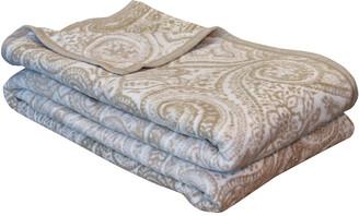Ibena Bordeaux Jacquard Full/Queen Bed Blanket