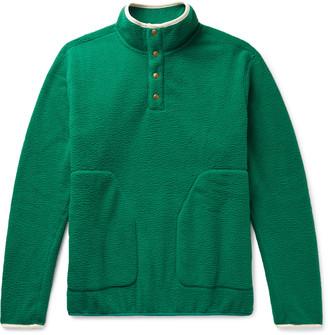 Aimé Leon Dore Microfibre-Trimmed Fleece Half-Placket Sweatshirt - Men - Green
