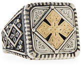 Konstantino Men's Maltese Cross Square Ring, Size 10