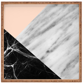 DENY Designs Marble Collage Large Square Tray