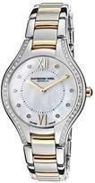 Raymond Weil Noemia 5132-SPS-00985 32mm Diamonds Stainless Steel Case Gold Tone Stainless Steel Sapphire Crystal Women's Watch