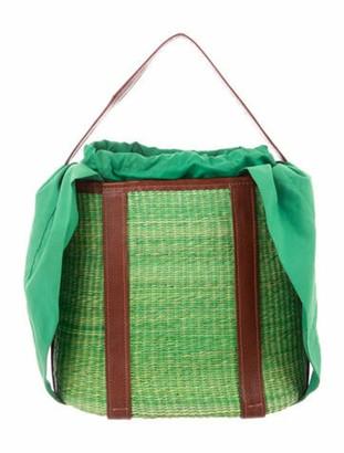 Sensi Straw Handle Bag Green
