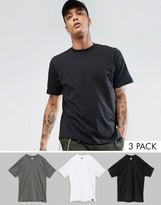 Dickies 3 Pack T-shirts In Multi-colour