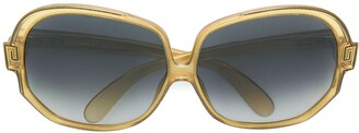 Christian Dior Pre-Owned Round Framed Tinted Sunglasses