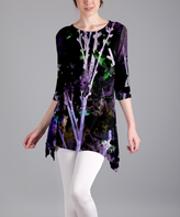 Lily Purple Branches Sidetail Tunic - Plus Too