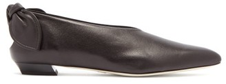 Proenza Schouler Knot-heel Leather Flats - Black