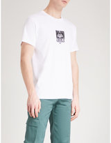 Obey Three Face Pyramid Cotton-jersey T-shirt