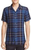 Todd Snyder Plaid Linen Regular Fit Button-Down Shirt