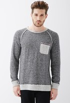 Forever 21 Reverse-Paneled French Terry Sweatshirt