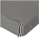 Kickee Pants Print Fitted Crib Sheet, Midnight/Natural Stripe