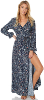 Swell Navy Floral Ls Maxi Dress