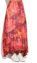 Orange Abstract Maxi Skirt - Plus Too