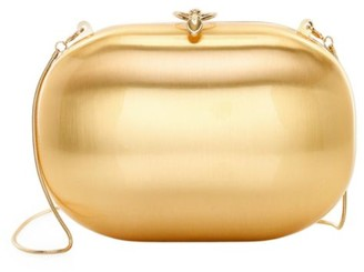 JEFFREY LEVINSON Elina 18K Goldplated Satin Clutch