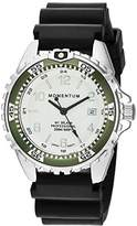 Momentum Women's Quartz Stainless Steel and Rubber Diving Watch, Color:Black (Model: 1M-DN11LK1B)