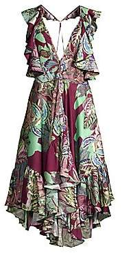 PatBO Women's Samba Flutter-Sleeve T-Back Dress