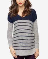 A Pea in the Pod Maternity Striped V-Neck Sweater