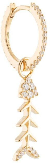Ete Fishbone embellished single earring