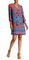Hale Bob Printed V-Neck Dress