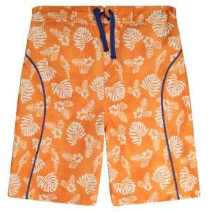 Tommy Bahama Boy's Leaf-Print Swim Trunks