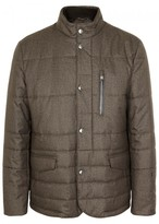 Corneliani Brown Quilted Shell Jacket