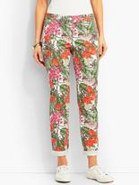 Talbots The Weekend Chino-Tropical Flowers & Palms