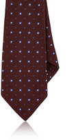 Kiton Men's Dotted Silk Necktie-BURGUNDY