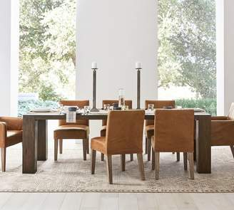 Pottery Barn Shaw Dining Table, English Brown