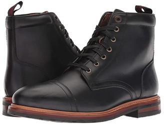 Florsheim Foundry Cap Toe Lace-Up Boot (Black Horween) Men's Lace-up Boots