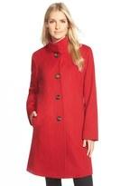 Fleurette Cashmere Stand Collar Car Coat (Regular & Petite)