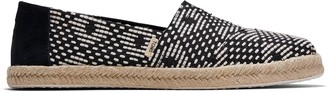 Toms Black Geometric Diamond Woven Women's Espadrilles