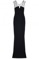 Quiz Black Diamante Keyhole Fishtail Maxi Dress