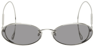 McQ Silver Swallow Chain Cable Tip Sunglasses