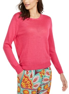 Max Mara Flax Linen Pullover Sweater