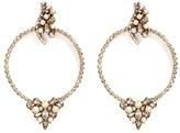 Erickson Beamon 'Together Forever' gold vermeil Swarovski crystal hoop earrings