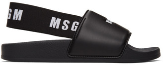 MSGM Black Slingback Slides