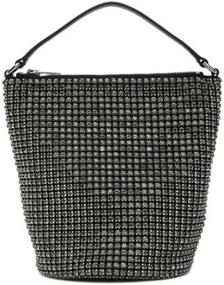 Alexander Wang Black Rhinestone Drysack Bag