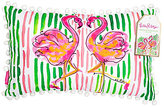 Lilly Pulitzer Pom-Pom Trimmed Flamingo Canvas Indoor/Outdoor Pillow