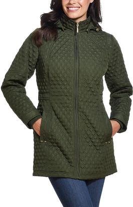 Weatherproof Women's Anoraks & Parkas EVERGLADE - Everglade Diamond-Quilt Hooded Walker Jacket - Women