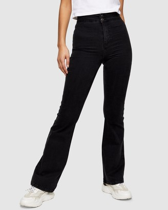 Topshop Three Stretch Flare Jeans