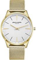 Pierre Cardin Men's 42mm Steel Bracelet & Case Quartz Analog Watch PC902271F10